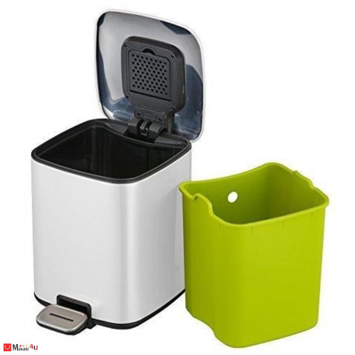 Кош за боклук с педал, 12 литра