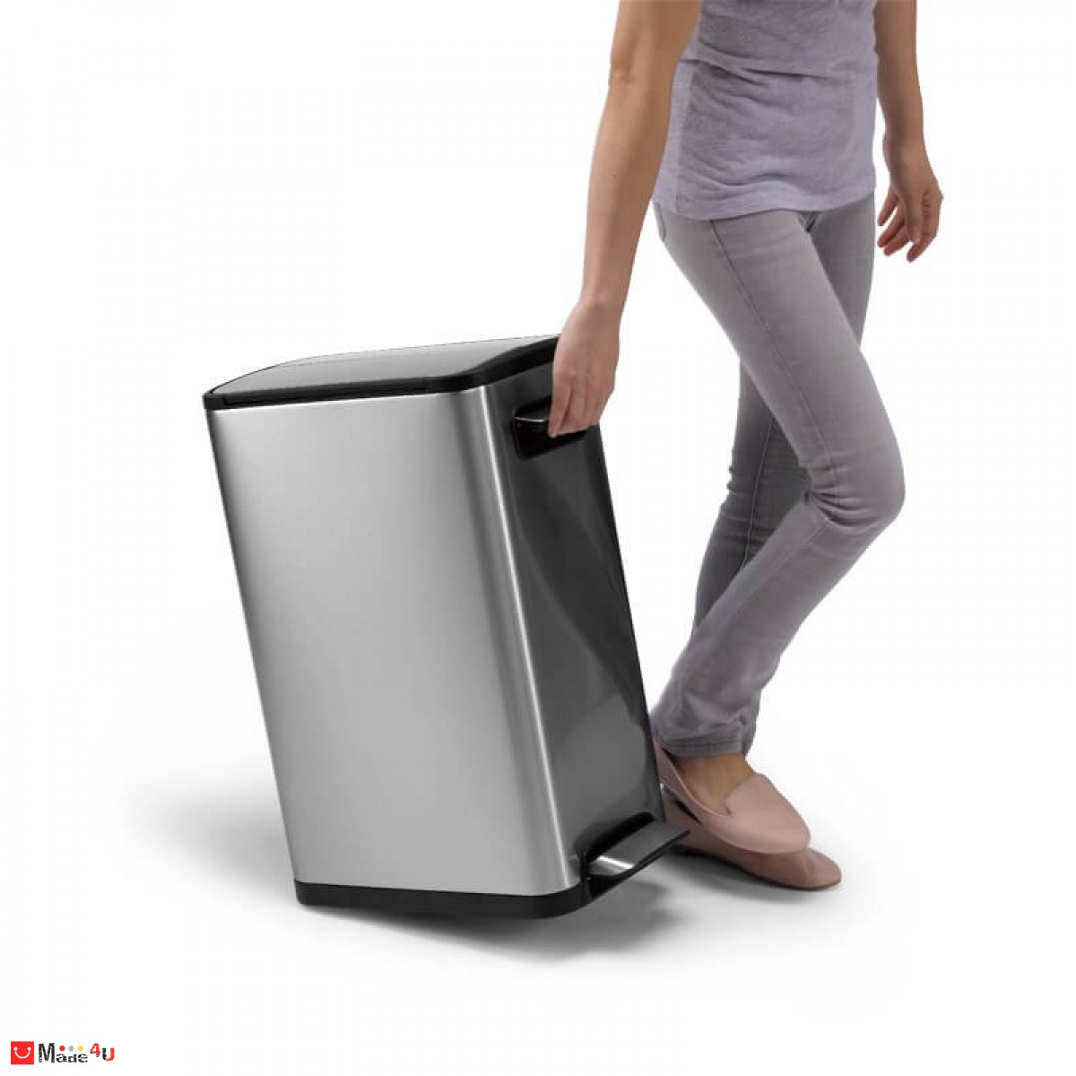 Иновативен кош за отпадъци с две крила и педал - обем 20 литра, модел ECOFLY мат, марка ЕКО