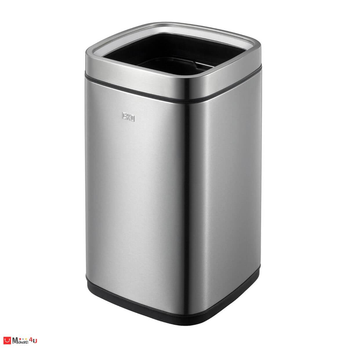 Отворен кош за отпадъци 12 литра - квадратен, модел LAGUNA мат, марка EKO