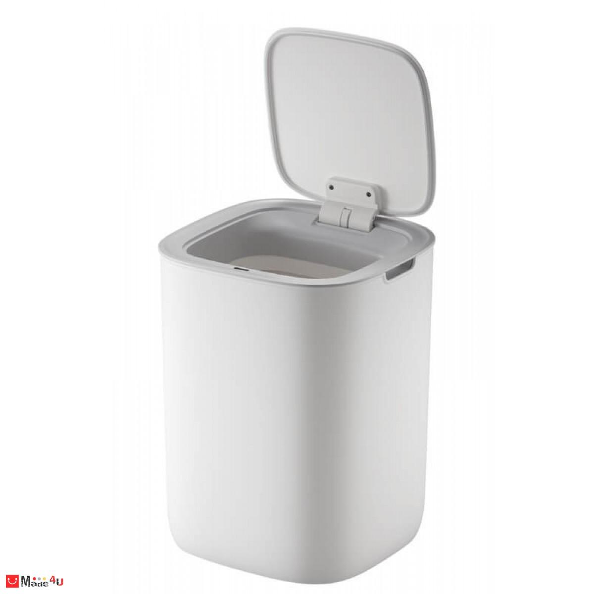 Сензорен кош за отпадъци - 12 литра, бял. Модел MORANDI SMART, марка EKO