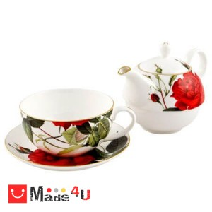 Сервиз за чай от 3 части, Чайник 500мл, Чаша 250мл, Чинийка - Lancaster 971305