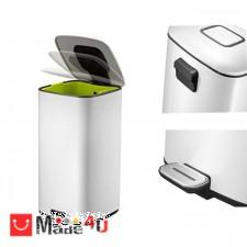 подарък Кош за боклук с педал, 20 литра, сменяем вграден филтър, бял, модел EKO REGENT NV-EKO 938820 - White