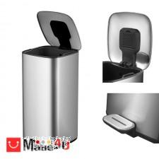подарък Кош за боклук с педал, 32 литра, сменяем вграден филтър, хром мат, модел EKO REGENT NV-EKO 938832 - Matt s/s