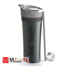 подарък Двустенна термо чаша FRESH-N-GO в цвят графит с вакуумна изолация и система AIR PUMP - 500мл, ASOBU NV-ASOBU - FNG1 SMOKE