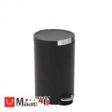 подарък Класически кош за отпадъци с педал и обем от 12 литра. Модел ARTISTIC ЕКО - черен NV-EKO 922512 - Matt black
