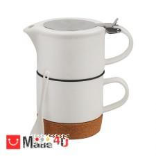 подарък Сет за чай от 4 части, чаша, чайник, лъжичка, цедка - Lancaster LG10 DM-LG10