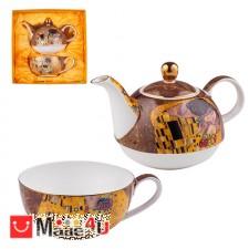 подарък Сервиз за чай от 2 части, Чайник 300мл, Чаша 150мл, Lancaster Целувката DM-991705