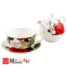 подарък Сервиз за чай от 3 части, Чайник 500мл, Чаша 250мл, Чинийка - Lancaster 971305 DM-971305