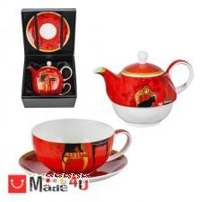 подарък Сервиз за чай от 3 части, Чайник 500мл, Чаша 250мл, Чинийка - Lancaster Котки DM-973705