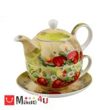 подарък Сервиз за чай от 3 части, Чайник 500мл, Чаша 250мл, Чинийка - Lancaster 975405 DM-975405