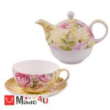 подарък Сервиз за чай от 3 части, Чайник 500мл, Чаша 250мл, Чинийка - Lancaster 975605 DM-975605