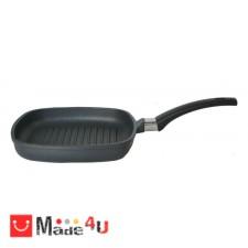 подарък Тиган за скара или барбекю с Titanium незалепващо покритие, плитък, h 4см, 28х28см - SKK NV-SKK 249