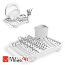 подарък Отцедник за чинии, чаши и прибори, метален сушилник 36х28см, UMBRA SINKIN, бял NV-UMBRA 330065-670