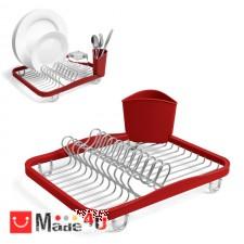 подарък Отцедник за чинии, чаши и прибори, метален сушилник 36х28см, UMBRA SINKIN, червен NV-UMBRA 330065-718