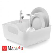 подарък Универсален отцедник за чинии, чаши и прибори, сушилник 38х36см, UMBRA TUB, бял NV-UMBRA 330590-660