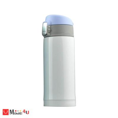 """Супер лек термос с вакуумна и двустенна изолация """"MINI DIVA"""" 200 мл. Цвят бял, марка ASOBU."""