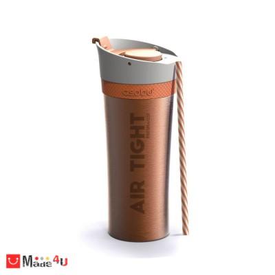 Двустенна термо чаша FRESH-N-GO 500мл с вакуумна изолация и система AIR PUMP - цвят син, ASOBU