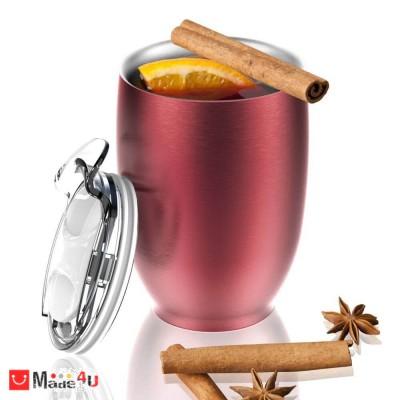 Двустенна термо чаша с вместимост 300мл и вакуумна изолация - IMPERIAL, ASOBU, цвят червен