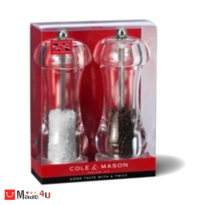 Комплект мелнички за сол и пипер CAPSTAN - 2 броя, 15,5 см, COLE&MASON