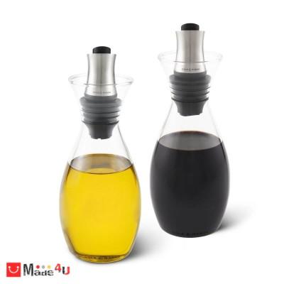 Комплект 2 броя диспенсъра за олио и оцет с регулиране на дозатора - COLE & MASON