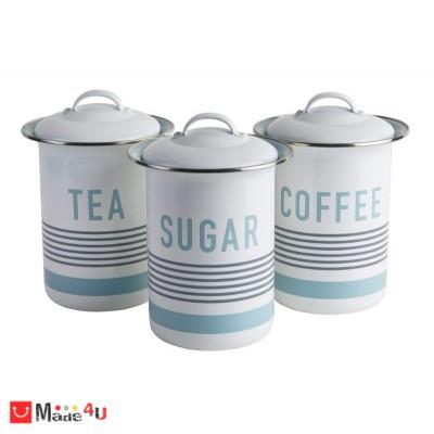 Канистери за съхранение, 3 броя за чай, кафе и захар