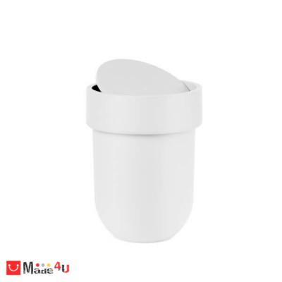 Кош за баня 6 литра с TOUCH функция - цвят бял. Марка UMBRA
