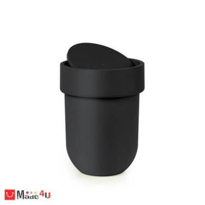 Кош за баня 6 литра с TOUCH механизъм цвят черен. Марка UMBRA