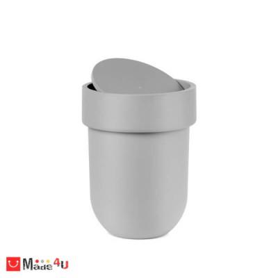 Кош за баня на марката UMBRA. TOUCH механизъм, обем 6 литра, цвят сив.