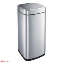 Сензорен кош за боклук 35л, плавно затваряне, хром мат, EKO PERFECT