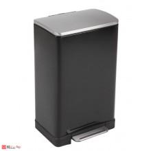 Кош за боклук с педал, 40 литра, плавно затваряне, черен, EKO ECUBE