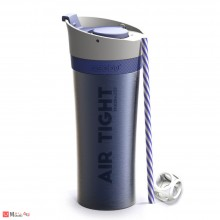 Двустенна термо чаша FRESH-N-GO с вакуумна изолация и система AIR PUMP - 500 мл, цвят син, ASOBU