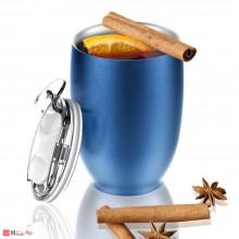 Двустенна термо чаша 300мл с вакуумна изолация - IMPERIAL, ASOBU, цвят син