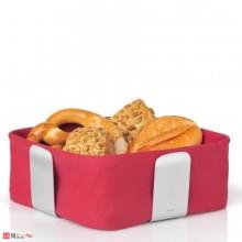 Панер за хляб и плодове DELARA 25,5х25,5см червен, марка BLOMUS