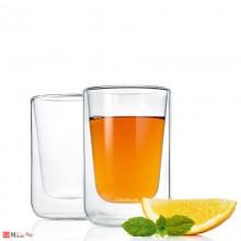 Стъклени чаши NERO за капучино или чай - 250мл двустенни. Комплект 2 броя. Марка BLOMUS