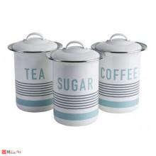Канистери за съхранение, 3 броя за чай, кафе и захар, VINTAGE JB8911
