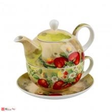 Сервиз за чай от 3 части, Чайник 500мл, Чаша 250мл, Чинийка - Lancaster 975405