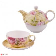 Сервиз за чай от 3 части, Чайник 500мл, Чаша 250мл, Чинийка - Lancaster 975605