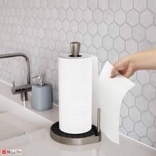 Настолна стойка за кухненска хартия SpinClickNTear - цвят черен/никел, UMBRA