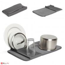 Сушилник за съдове със стойка, 33х51см, UMBRA UDRY mini, сив