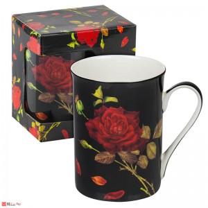 Порцеланова Чаша за кафе и чай, 300 мл, Lancaster - Червена Роза