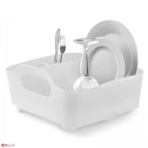 Универсален отцедник за чинии, чаши и прибори, сушилник 38х36см, UMBRA TUB, бял